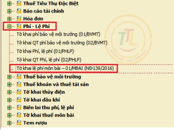 huong dan cac buoc chi tiet lap to khai phi mon bai htkk