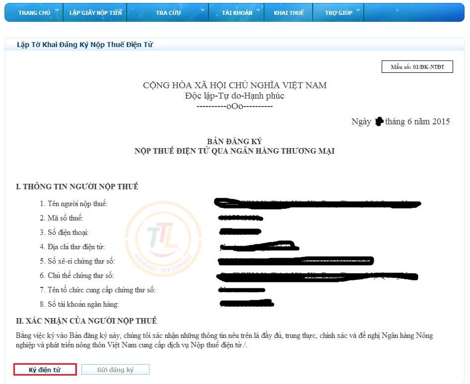 hướng dẫn đăng ký thuế điện tử hóa đơn điện tử