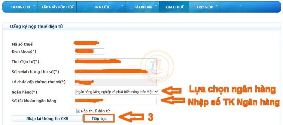 Hướng dẫn thủ tục đăng ký tài khoản hóa đơn điện tử