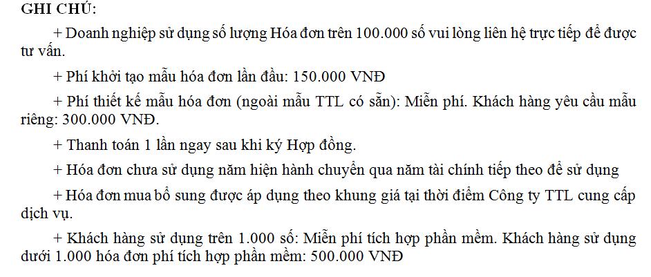 Phí thiết kế mẫu hóa đơn 300k